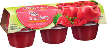 Great Value™ Strawberry Flavored Applesauce 6-4 oz. Cups