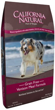 California Natural® Grain Free Venison Meal Formula Adult Dry Dog Food