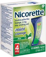 Nicorette® Mini Mint Stop Smoking Lozenge 4mg