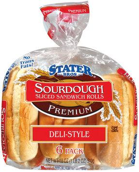 Stater Bros. Sourdough Deli-Style Sliced Sandwich Rolls 18 Oz Bag