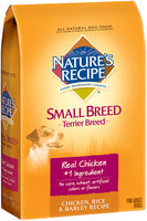 Nature's Recipe® Chicken, Rice & Barley Terrier Breed Dog Food 5 lb. Bag