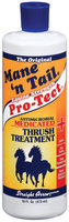 Mane 'n Tail Antimicrobial Medicated Equine Strength Pro-Tect Thrush Treatment 16 Fl Oz Squeeze Bottle