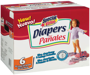 Special Value Size 6 Xx-Large Diapers 60 Ct Box