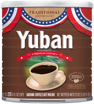 Yuban Traditional Medium Roast Ground Coffee Americana Tin 31 oz. Canister