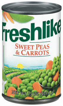 Freshlike Sweet & Carrots Peas 15 Oz Can