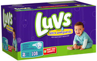Stretch Luvs with Ultra Leakguards Big Pack Size 2 Diapers 108 Count