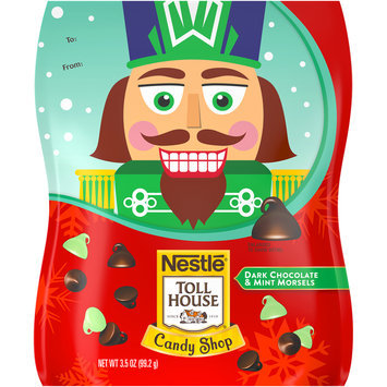 Nestlé TOLL HOUSE Candy Shop Dark Chocolate & Mint Morsels 3.5 oz. Standup Bag