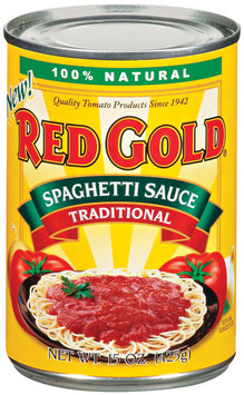 Red Gold Traditional Spaghetti Sauce 15 Oz Can