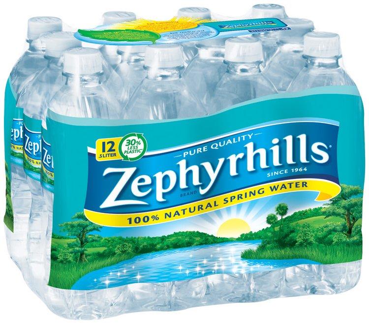 ZEPHYRHILLS Brand 100% Natural Spring Water, 16.9-ounce plastic bottles (Pack of 12)