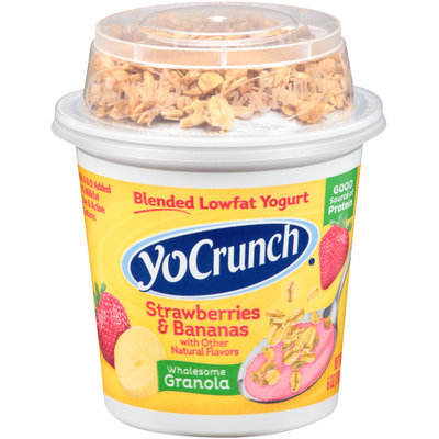 YoCrunch® Strawberries & Bananas Lowfat Yogurt with Granola 6 oz. Cup