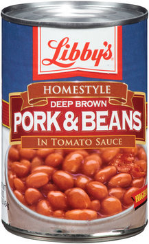 Libby's® Homestyle Deep Brown Pork & Beans in Tomato Sauce 16 oz. Can