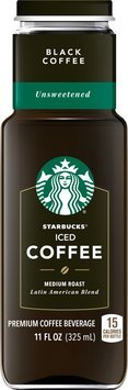 Starbucks® Black Unsweetened Iced Coffee 11 fl. oz. Bottle