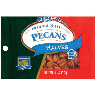 Stater Bros. Halves Pecans 6 Oz Peg
