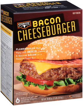 Steak-Eze® Bacon Cheeseburger 6-6.4 oz. Box