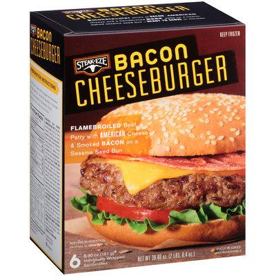 Steak-Eze® Bacon Cheeseburger 6-6.4 oz. Box