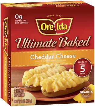 Ore-Ida Cheddar Cheese 2 Ct Ultimate Baked Potatoes 10 Oz Box