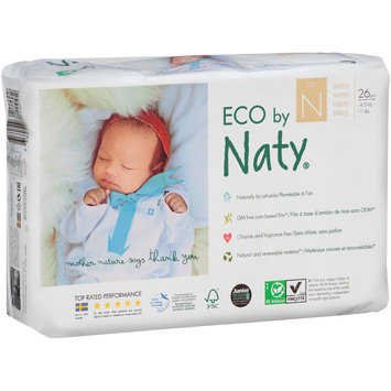 Eco by Naty® Size N Diapers 26 ct Pack
