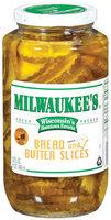 Milwaukee's Bread & Butter Slices Pickles 32 Fl Oz Jar