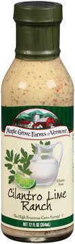 Maple Grove Farms of Vermont® Cilantro Lime Ranch Dressing 12 fl. oz. Bottle