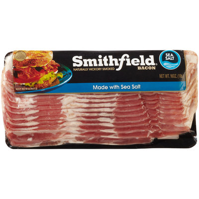 Smithfield® Naturally Hickory Smoked Sea Salt Bacon 16 oz. Pack