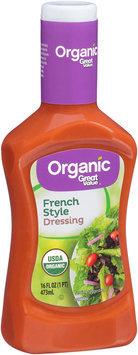 Great Value™ Organic French Style Dressing 16 fl.oz. Plastic Bottle