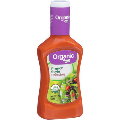 Great Value™ Organic French Style Dressing 16 fl.oz. Plastic Bottle