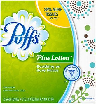 Plus Puffs Plus Lotion Facial Tissues 1 Cube, 72 Tissues per Cube