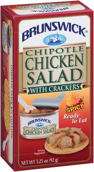 Brunswick® Ready to Eat Chipotle Chicken Salad with Crackers 3.25 oz. Box