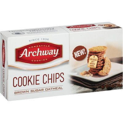 Archway® Brown Sugar Oatmeal Cookie Chips 7 oz. Box