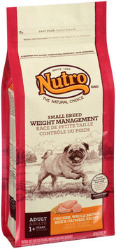 Nutro® Small Breed Weight Management Adult Chicken, Whole Brown Rice & Oatmeal Recipe Dog Food 4 lb. Bag