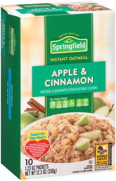 Springfield Apple & Cinnamon Instant Oatmeal 12.3 oz. Box