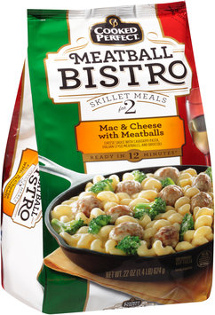 Cooked Perfect® Mac & Cheese with Meatballs 22 oz. Bag