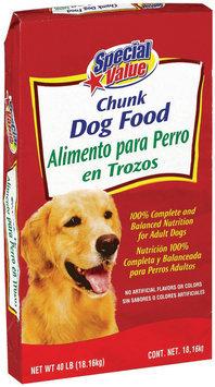 Special Value Chunk  Dog Food  40 Lb Bag