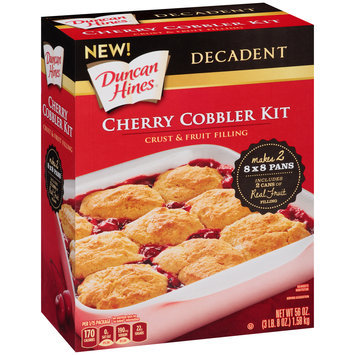 Duncan Hines® Decadent Cherry Cobbler Kit Crust & Fruit Filling