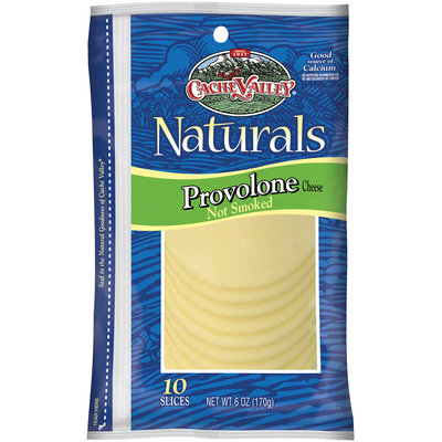 Cache Valley Naturals Provolone 10 Ct Slices Cheese 6 Oz Peg