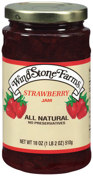Windstone Farms Strawberry Jam 18 Oz Jar