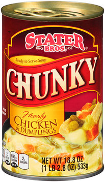 Stater Bros.® Ready to Serve Chunky Hearty Chicken & Dumplings Soup 18.8 oz. Can