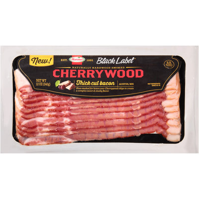 Hormel Black Label® Cherrywood Thick Cut Bacon 12 oz. Packet