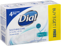 Dial® Soothing Care Glycerin Soap 4-4 oz. Box