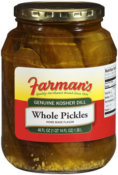 Farman's®Genuine Kosher Dill Whole Pickles 46 oz Jar