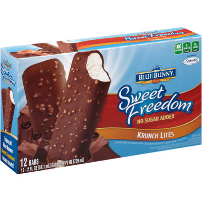 Blue Bunny® Sweet Freedom® Krunch Lites Ice Cream Bars 12 ct Box