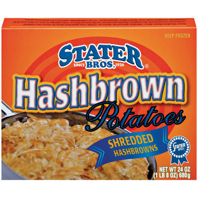 Stater Bros. Shredded Hashbrowns Potatoes 24 Oz Box