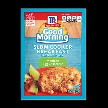 McCormick® Good Morning Mexican Egg Casserole Slow Cooker Breakfast Seasoning Mix