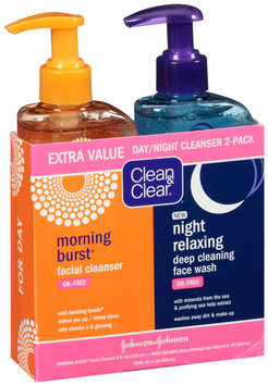 Clean & Clear Morning Burst Facial Cleanser & Night Relaxing Deep Cleaning Face Wash