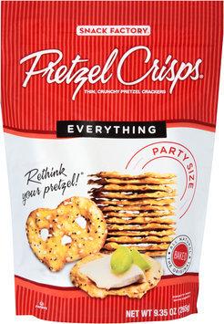 Pretzel Crisps® Everything Pretzel Crackers Party Size 9.35 oz. Bag