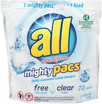 all® free clear mighty pacs® Laundry Detergent 72 Loads 50.7 oz. Pouch
