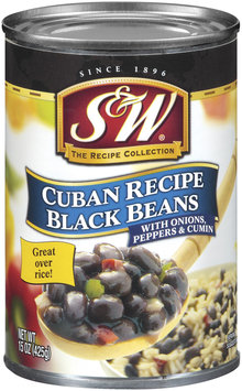 S&W Cuban Recipe W/Onions Peppers & Cumin Black Beans