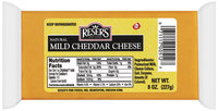 Reser's Fine Foods Natural Mild Cheddar Cheese 8 Oz Brick