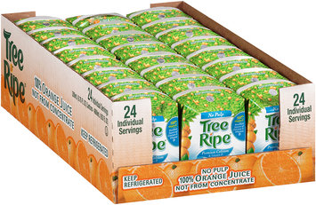 Tree Ripe® No Pulp Premium Calcium & Vitamin D Orange Juice 24-6.75 fl oz. Carton.