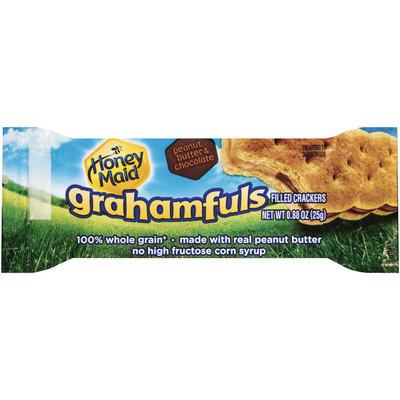 Nabisco Honey Maid Grahamfuls Peanut Butter & Chocolate Filled Crackers 0.88 oz. Pack